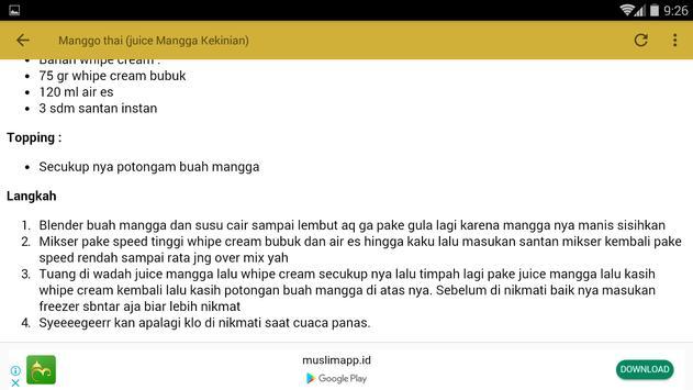 Resep Aneka Minuman Mangga screenshot 13