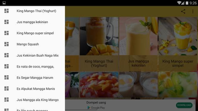 Resep Aneka Minuman Mangga screenshot 14