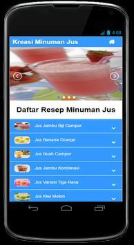 Kreasi Resep Minuman Jus Segar screenshot 1