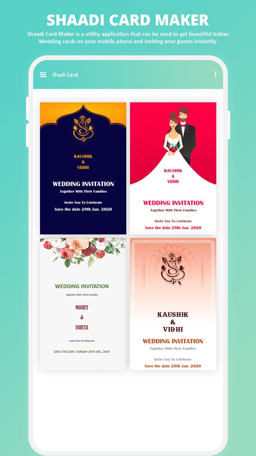 Wedding Invitation Card Maker Shaadi Card 2020 For Android Apk Download