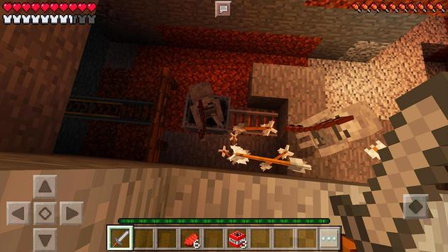 Horror MCPE Map Evil Dungeon poster