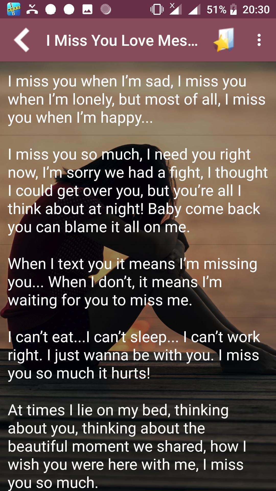 You messages i miss nice Ways to