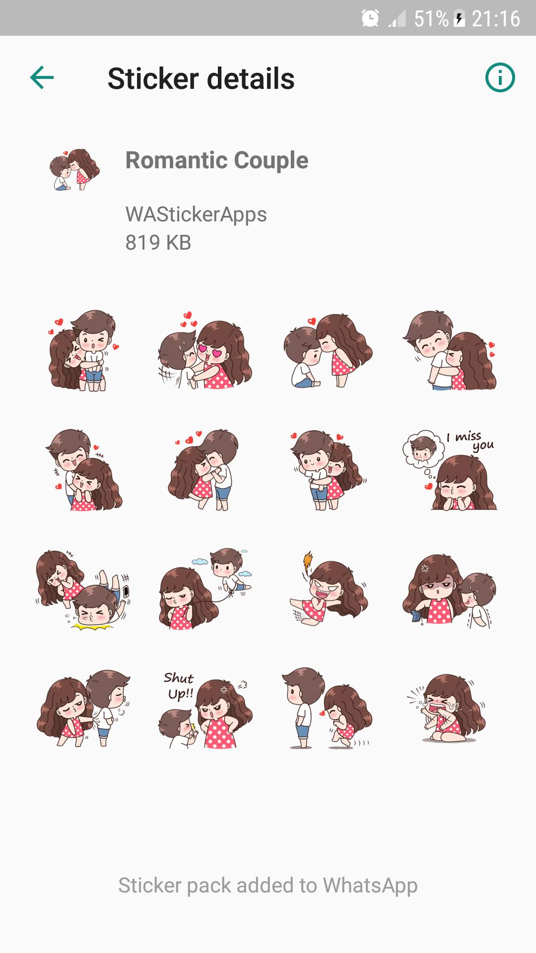 Romantic Couple Sticker Wastickerapps For Android Apk Download