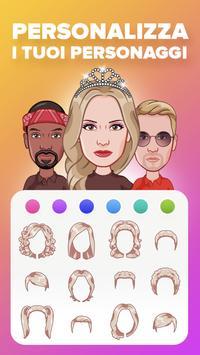 7 Schermata Specchio: avatar, gif stickers, adesivo ed emoji