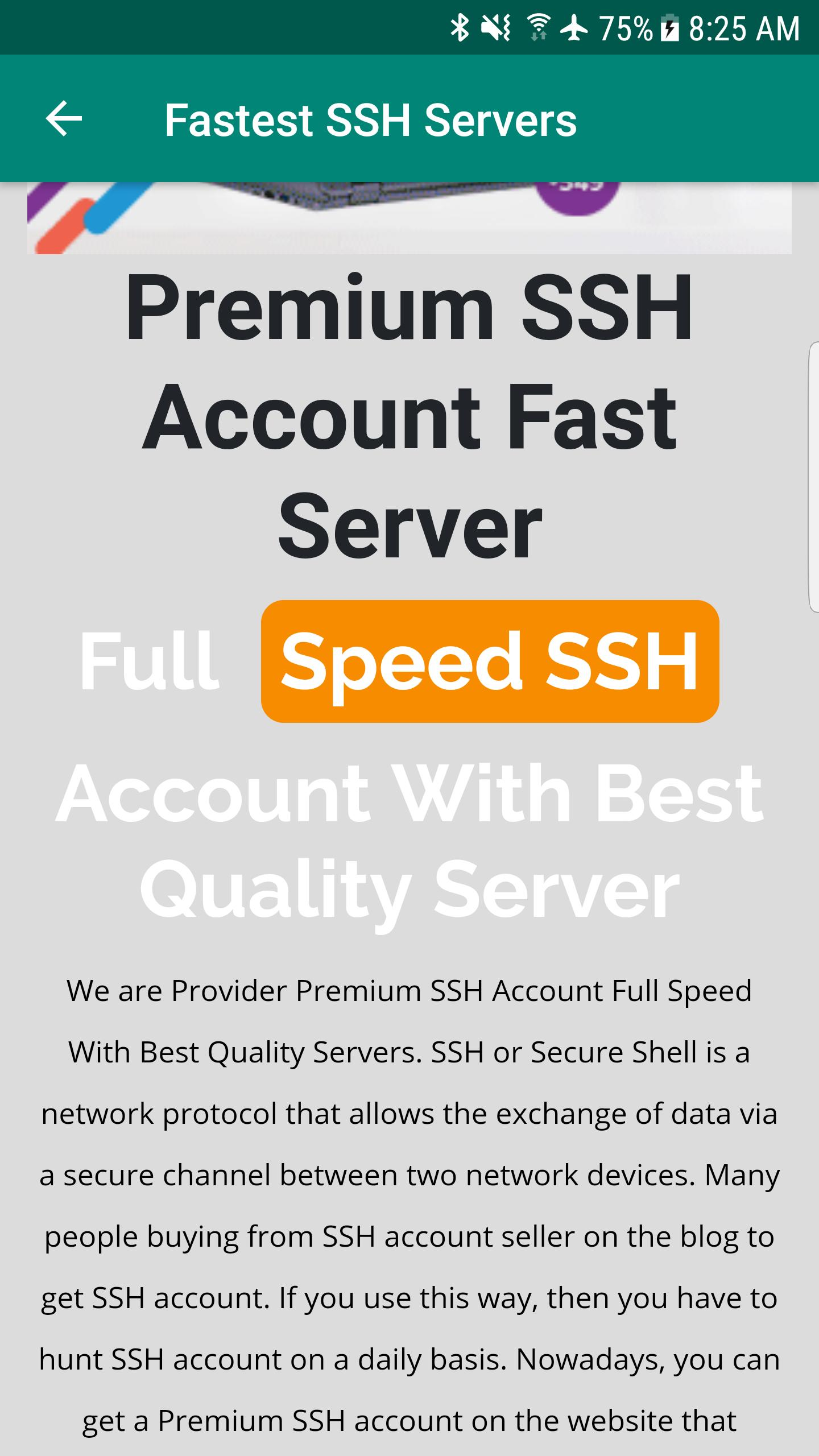 Fastest SSH Servers for Android - APK Download