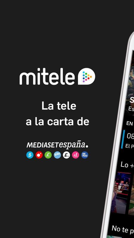 Mitele - TV a la carta für Android - APK herunterladen