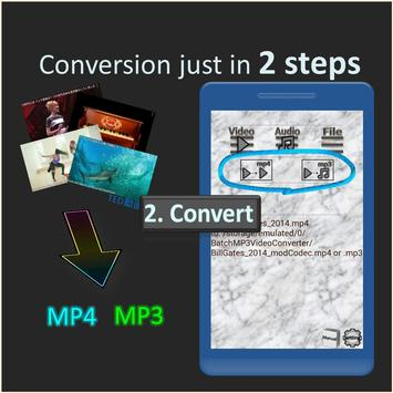 Batch MP3 Video Converter, many files with 1 click screenshot 1