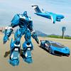 警察机器人汽车游戏 - 警察飞机运输 图标