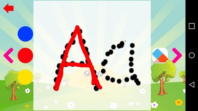 تعليم الحروف العربية و الحروف الانجليزية للاطفال ảnh chụp màn hình 3