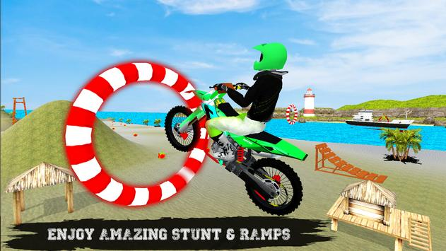Beach Bike Ramp Stunts Racing Master screenshot 8