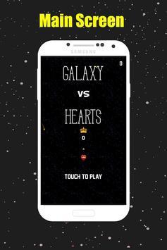 Galaxy VS. Hearts poster