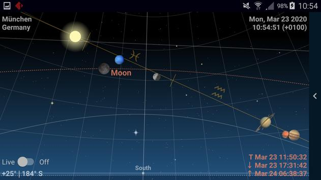 Astrolapp Live Planets and Sky Map 截圖 2