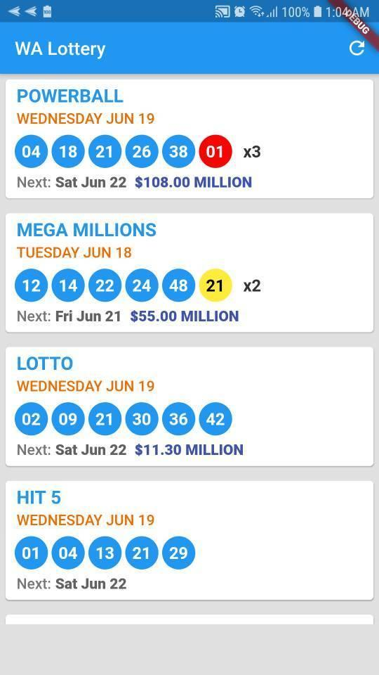 WA Lottery: Washington Lottery Results for Android - APK
