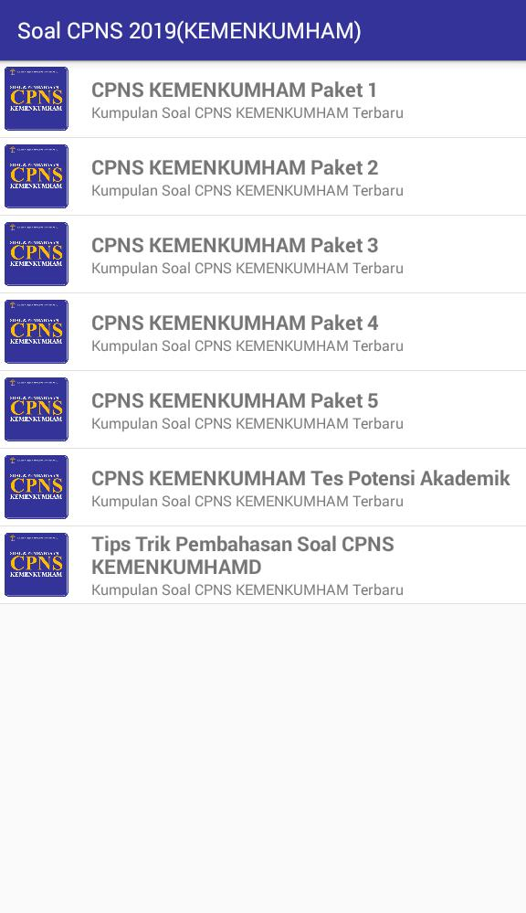 Soal Cpns 2019 Kemenkumham For Android Apk Download
