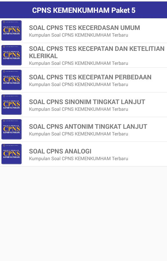 Soal Cpns 2021 Kemenkumham For Android Apk Download