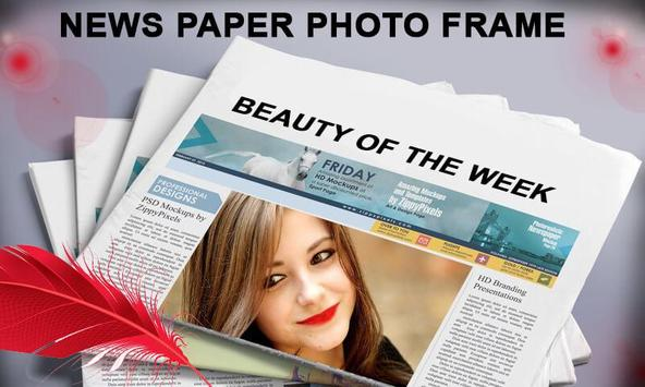 News Paper Photo Frame poster