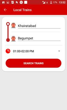 Hyderabad Metro & Local Train Route Map Timetable screenshot 3