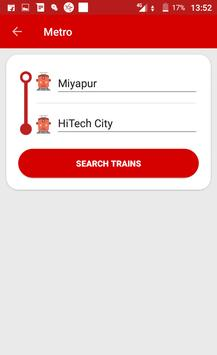 Hyderabad Metro & Local Train Route Map Timetable screenshot 1