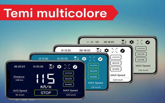 1 Schermata Contachilometri digitale GPS e contachilometri HUD