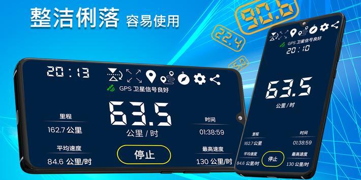 GPS离线数位车速表和里程表HUD Pro 海报