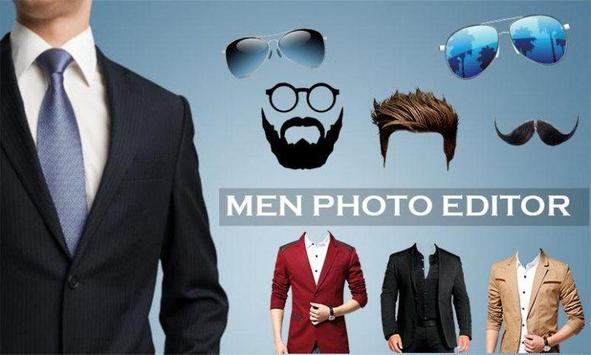 Man Photo Editor : Man Hair style ,mustache ,suit poster