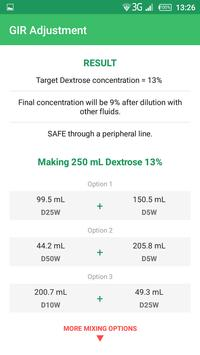 Dextrose Calc - GIR & Calories Calculator screenshot 7