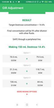 Dextrose Calc - GIR & Calories Calculator screenshot 2