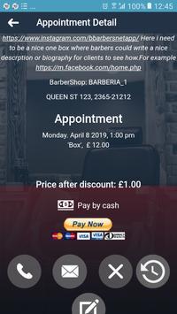 Barbersnet Client App screenshot 2