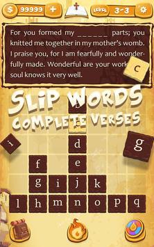 Bible Words - Verse Collect Word Stacks Game poster