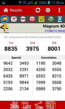 Live 4D Results screenshot 1