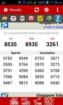 Live 4D Results screenshot 2
