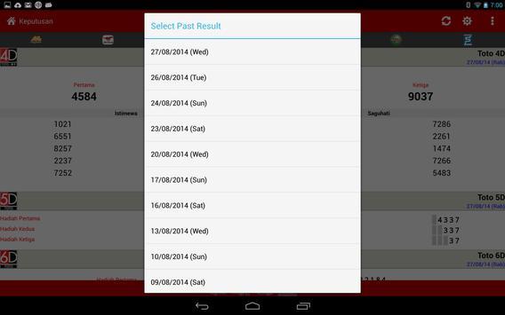 Keputusan 4D Live syot layar 18