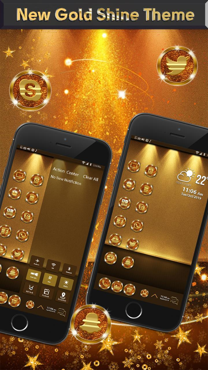Gold Shine Theme for Galaxy S10 for Android - APK Download