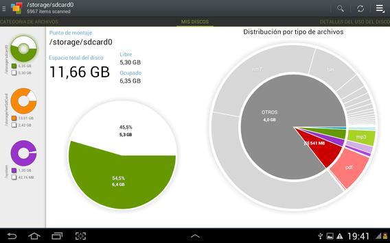 Duros, tarjetas SD, depósitos captura de pantalla 1