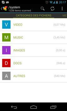 Lecteurs, Stockage, carte SD capture d'écran 1