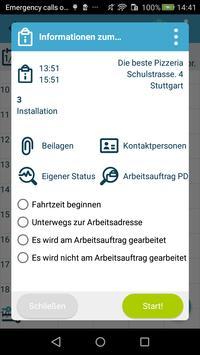 Die kluge Arbeitsauftrags-App Screenshot 2
