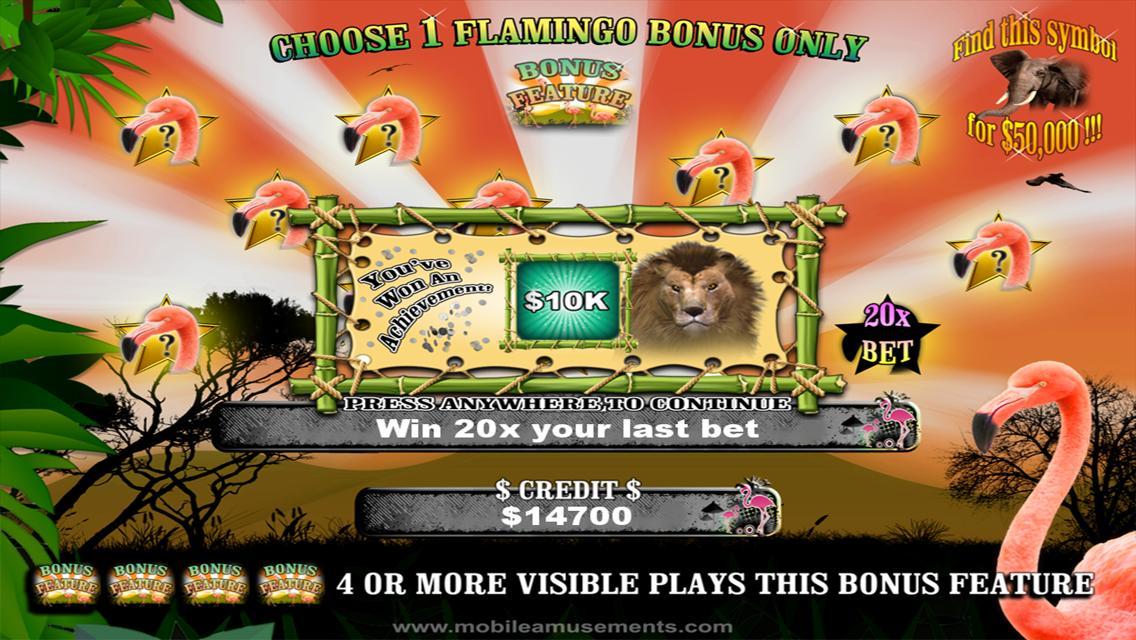 Flamingo Safari Slots poster