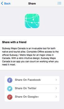 Subway Maps Canada screenshot 4
