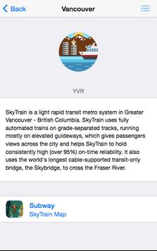 Subway Maps Canada screenshot 2