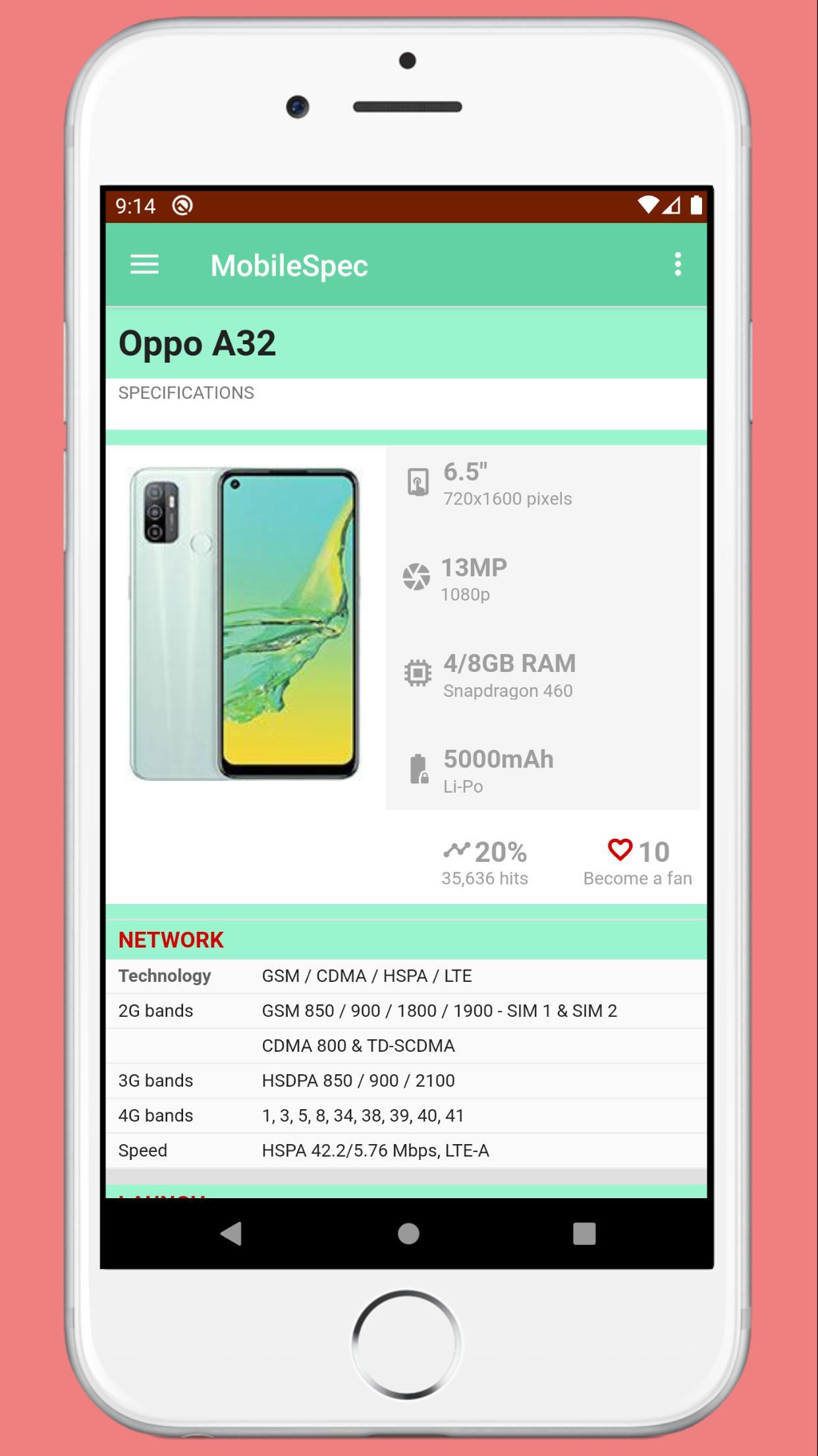MobileSpec - Mobile Phone Full Specification  screenshot 7