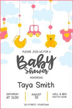Baby Shower Card Maker screenshot 7