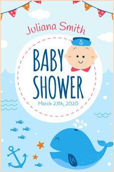 Baby Shower Card Maker screenshot 4