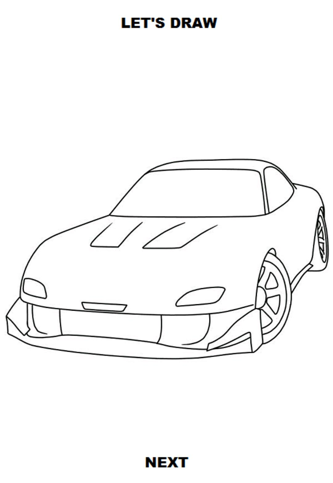 Draw Cars Sport For Android Apk Download
