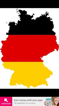 Germany flag map-poster
