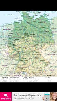 Germany flag map captura de pantalla 2