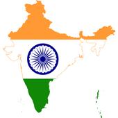 India flag map иконка
