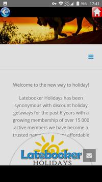 Latebooker Holidays SA screenshot 2