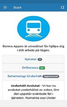 Tåg Info - För oss inom Järnvägen poster