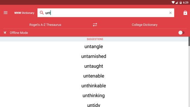 Webster's Dictionary+Thesaurus screenshot 9
