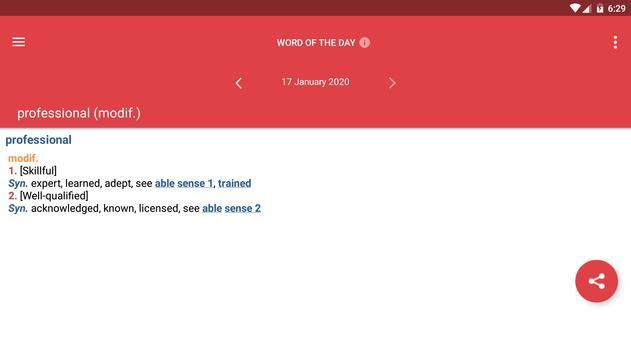 Webster's Dictionary+Thesaurus screenshot 20